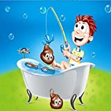 LILICAT 2018 New Fun Bath Fishing Game Marine Biological Cognitive Fishing For Floaters Kids Puzzle Toys Learning Education Play Set Gift Fishing For Floaters Bath Tub Game (Multicolor)