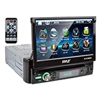 """In-Dash Car Stereo with 7"""" Multi-Color Touchscreen Display - Audio Video System with Bluetooth for Wireless Music Streaming & Hands-free Calling - PLTS78DUB"""