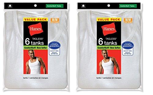 Hanes Unterhemd, Herren, Farbe: weiß, Tagless®, ComfortSoft®, mit V-Ausschnitt, 372 (V-ausschnitt Unterhemd Hanes)