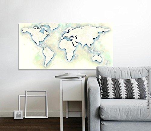 Beige-moderne-tapete (The World Map Day_ Fine Art Fotoabzug 80 x 40 cm - ungerahmt - Kunst, Poster, Plakat, Artwork, Fotografie, Grafik, Einrichtung, Interieur, Geschenk, SKU 105218-velvet)