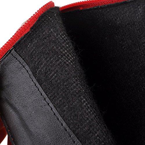Alti Coscia Pelo Sistema Tacchi Unica E Aiguillesavec Sexy Piattaforma Uh Alla Biker Rosso Femminili 7YgqwaI
