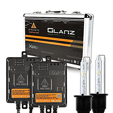 HID Conversion Kit, AFTERPARTZ® Glanz AC 55W 6000K Quick Start with 3 Seconds 100% Full Light Up HID XENON Headlight Bulb (H7)