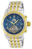 Burgmeister Armbanduhr für Herren mit Analog Anzeige, Automatik-Uhr mit Edelstahl Armband - Wasserdichte Herrenuhr mit zeitlosem, schickem Design - klassische Uhr für Männer - BM127-137 Royal Diamond
