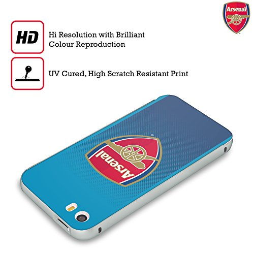 Ufficiale Arsenal FC Away 2017/18 Kit Crest Argento Cover Contorno con Bumper in Alluminio per Apple iPhone 5 / 5s / SE Away