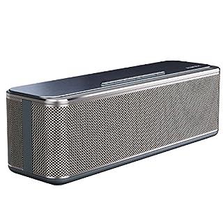 AUKEY Bluetooth Lautsprecher 16W Dual-Treiber un Duale Bass-Radiatoren verstärkter Bass mit 12-Stunden Spielzeit, 4000mAh-Akku, Metall Wireless Speaker für Echo Dot, iPhone, iPad, Samsung, Android usw