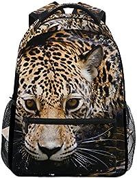 Preisvergleich für COOSUN Jaguar Portrait zufällige Rucksack Schultasche Reise Daypack Mehrfarbig