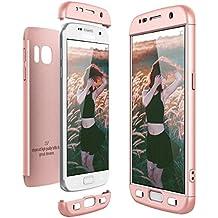 Funda Samsung Galaxy S7, CE-Link Carcasa Fundas para Samsung Galaxy S7, 3 en 1 Desmontable Ultra-Delgado Anti-Arañazos Case Protectora - Oro rosa