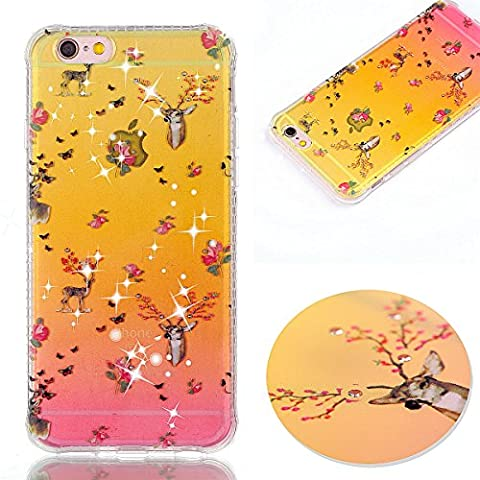 Meet de Apple iphone 6s Case, Soft Silicone Bumper Ultra Thin Slim Flexible Cover Case ,High Quality TPU with Colorful Cute Printed Pattern Fashion Design Protective Back Rubber Case Cover Shell Perfect Fitted For Apple iphone 6s - Sika