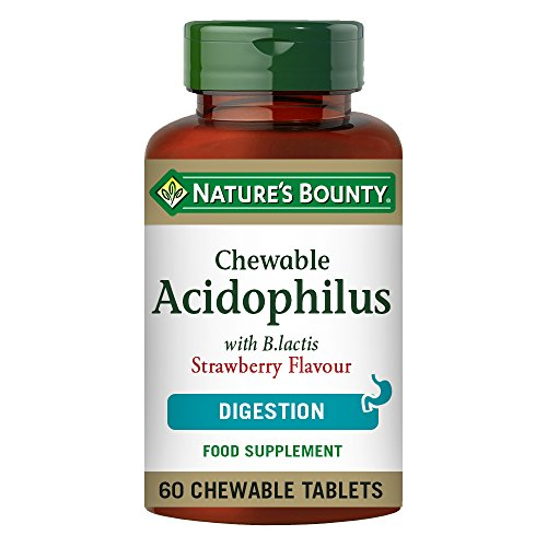 Nature's Bounty Probiotic Acidophilus Strawberry Chewable Tablets, Pack of 60