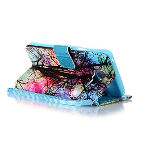 ANNNWZZD Lederhülle Leder Tasche Case Cover für iPhone 5 5S SE Hülle PU Schutz Etui Schale Design Backcover Flip Cover Wallet case im Bookstyle mit Standfunktion Karteneinschub und Magnetverschluß Etu A02