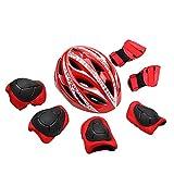 GuoYq Kinderfahrradhelm-Set, einteiliger Leichter Helm, tragbarer Fahrradbalance-Skateboard-Kinderhelm, PC + EPS-Material