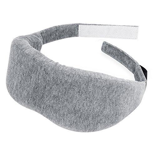 PLEMO Augenmaske Ultra-weich Memory Schaum, für komplette Dunkelheit Ultraweich & Lichtundurchlässig mit Massage-Sensation, 3D, Ergonomisch, Ideal für Schlaflosigkeit und Reisen, Grau