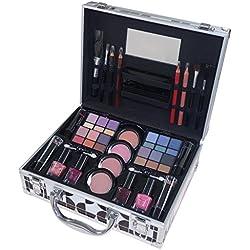 Gloss - caja de maquillaje, caja de regalo para mujeres - Caso del maquillaje Maquillaje Pasarela - 22pc