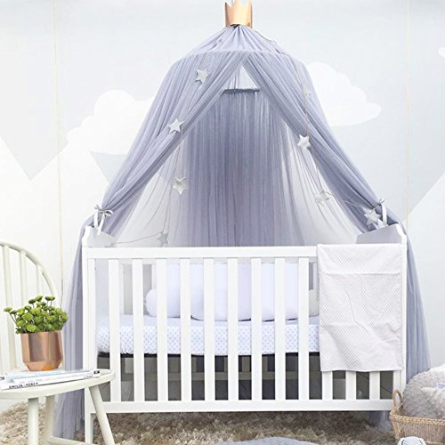 AIHOME Romantischer Baby Baldachin Betthimmel Moskitonetz zum Aufhängen Kinderbett für Kinderzimmer