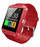 #8: Mobile Link Samsung Galaxy Victory 4G LTE L300 Compatible U8 Bluetooth Smart Watch(Red) With Touch Screen,Multilanguage,Android/Ios Mobile Phone Wrist Watch With Activity Trackers And Fitness & Supports Apps Like Facebook And Whatsapp