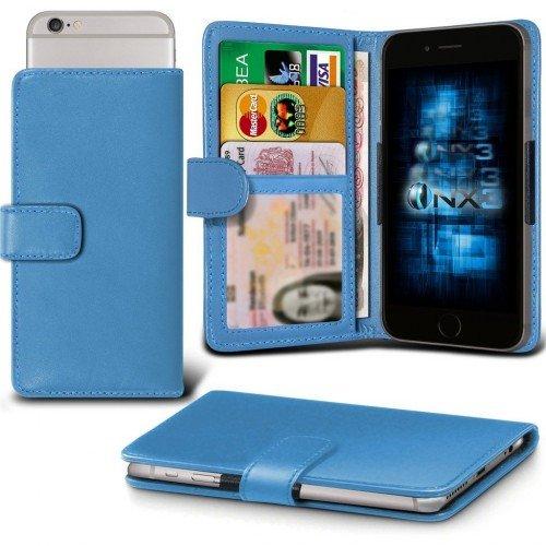 Galaxy A7 / Galaxy A7 Duos Titular de la tarjeta identificación de la carpeta de muelle ajustable cubierta de la caja (Baby Azul) Plus de regalo libre, Protector de pantalla y un lápiz óptico, Solicitar ahora mejor caja del teléfono Valorado en Amazon! By FinestPhoneCases