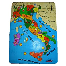 Puzzle legno regioni d'Italia 40 x 30 cm