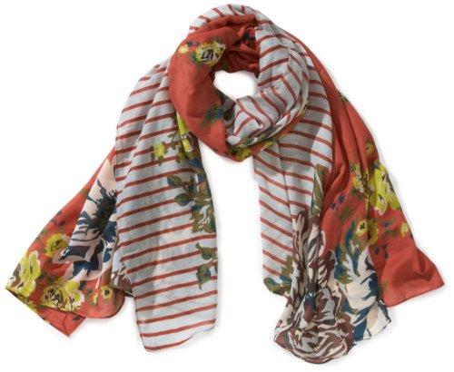 Pieces - Sciarpa, manica lunga, donna, Multicolore (Mehrfarbig (DARK CORAL)), Taglia unica