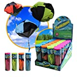 2 Pack Of FQStech Toy Parachute Soldier Men Hand Throwing Parachute Jump Fly Toys Outdoor Play Game Toy (Color Random)
