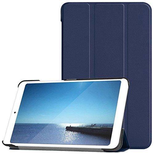 ELTD Xiaomi Mi Pad 4 Custodia Cover, Ultra Lightweight Pelle con Funzione di Stand Flip Copertina Smart Case Cover per Xiaomi Mi Pad 4 7.9 Pollici Tablet, Blu