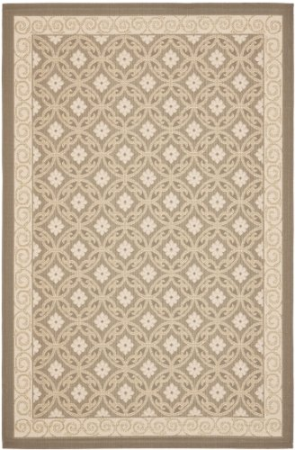 Safavieh Theodore In- und Outdoorteppich, CY7810-97A21, Beige / Beige, 160 X 231  cm