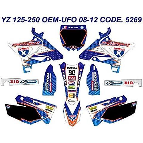 5269Yamaha YZ 125–250oem-ufo Kit 08–12, grafica - Yamaha Oem Grafica