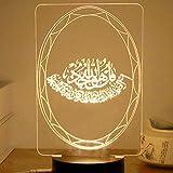 Moonbird USB-Powered Kreative 3D EID Mubarak LED Nachtlicht Tischlampe Für Eid Ramadan Mubarak Party Dekoration