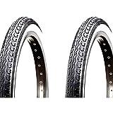 ONOGAL 2X Pneu Kenda Noir et Blanc 26'x 1 1/2 650B 40-584 Vélo 3581