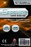 100 Sleeves Sapphire CHIMERA USA 57,5x88 Bustine Protettive x Giochi da Tavolo