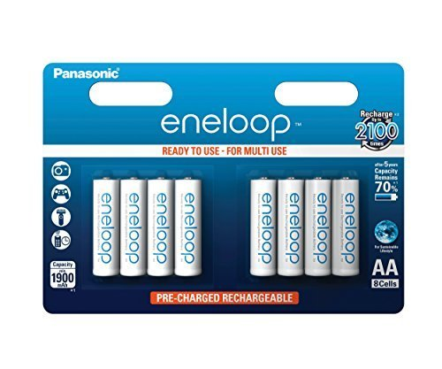 Galleria fotografica Panasonic eneloop BK-3MCCE/8BE Ready-to-Use AA Batteries - Ni-Mh - 1,900 mAh - Pack of 8 by Panasonic
