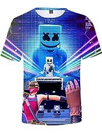 2715daea1 FLYCHEN Camiseta para Niños 3D Impresión Gráfica Marshmello DJ Música  Electrónica EDM Cool ...