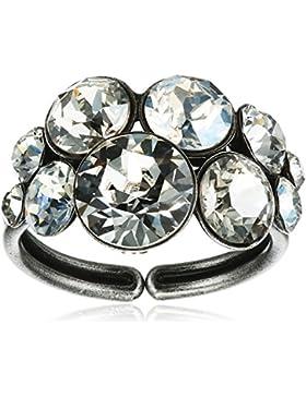 Konplott Damen-Ring Petit Glamour Messing Glas Ringgröße verstellbar - 5450527_P