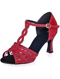 TMKOO& Zapatos de verano de mujeres latinas zapatos nuevos amistad adulta de baile de fondos blandos zapatos de baile zapatos modernos cuadrados ( Color : Negro , tamaño : 41 )
