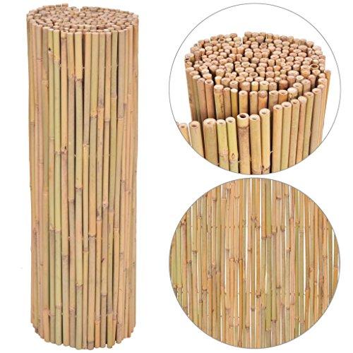Zora Walter clôture de jardin en bambou 300 x 100 cm clôture jardin barrières extérieures Bambu clôture accessoires clôture Kit Clôture extérieur