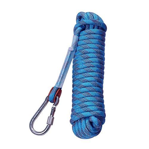 Klettern Seil Outdoor Wandern Zubehör High Strength Cord Sicherheit Seil by Laukowind (20m, 66ft) (30m, 98ft) Maximale Belastbarkeit 3300 lbs (1500 kg) (30 Meter)