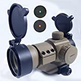 Tactical-1X32-M3-Red-Green-Dot-Sight-Scope-Riflescope-with-L-Mount-with-4-Levels-Dot-Brightness-TAN-DE-Cover-for-Military-Airsoft-Hunting-Shooting-Paintball