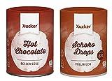 Xucker - 2er Schoko-Probierset (2 x 200 g) - Vollmilch Schokodrops und Trinkschokoladen-Pulver