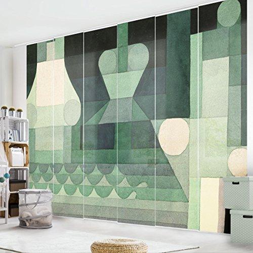 Bilderwelten Schiebegardinen Set - Paul Klee - Schleusen - 6 Flächenvorhänge, Aufhängungssystem:...