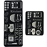 Leebei Kitchen Rugs Mats 2 Pieces Sets Non slip Washable Indoor mat,Polyester Anti-fatigue