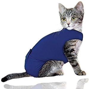 Simply Pets Online - Combinaison de récupération de chat, gilet de chat et chemise médicale pour animaux de compagnie | Protection post chirurgie | Petite taille