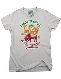 Bathroom Wall Bob Marley Inspired Buffalo Soldier, Women's T-Shirt