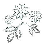 DIPOLA Metal Cortador de Corte de Flores Nuere Troqueles Plástico Reutilizables para Hacer Rosa Delicado Tarjetas Álbum de Fotos y Decoración de Hogar y Cocina
