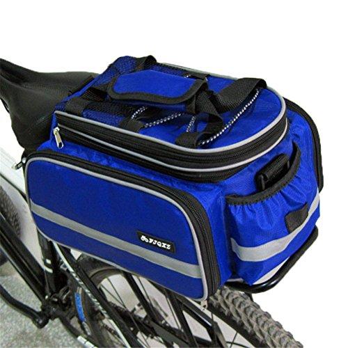 Fortuning's JDS Sitzgestell Tasche Beutel mit Schultergurt für Außenreitwander Radfahren zurück Blau