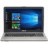 Asus F541NA-GQD64T 39,6 cm (15,6 Zoll matt) Notebook (Intel Celeron N3350, 4GB RAM, 1TB HDD, Intel HD Graphics, DVD-Laufwerk, Win 10 Home) schwarz