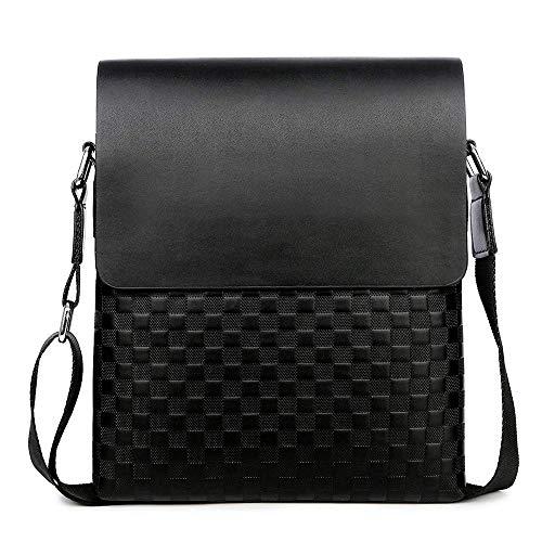 MLpus Business Herren Tasche Korean Edition Square Bag Herren Umhängetasche Schultertasche (braun, klein) (Farbe : Schwarz)