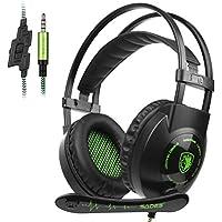 Cascos para Xbox One PS4, Sades SA801 Auriculares Gaming Bajo Envolvente Estéreo con Micrófono 3.5mm Puerto Compatible PC/ MAC/ iPad/ iPod/ iPhone/ Laptop/Smartphone