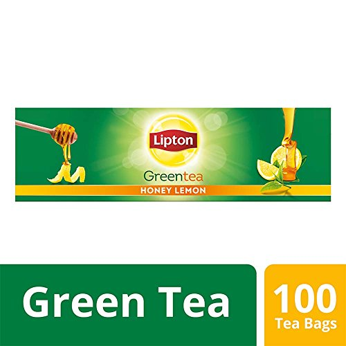 Lipton Honey Lemon Green Tea Bags, 100 Pieces