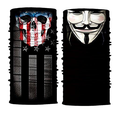 Máscara de Calavera 3D Multifunción Bandana Braga Hombre...