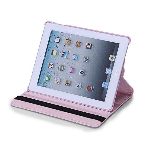 Preisvergleich Produktbild neuen Licht Pink PU Leder 360° rotierender Ständer Schutzhülle für iPad Pro 12,9