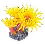 sourcingmap® 7 cm Höhe Fuchsia gespitzte Weiß weichen Silikon Koralle Schmücken Aquarium de